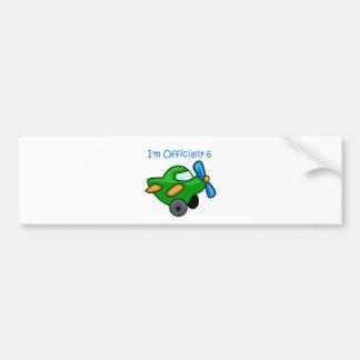 I'm Officially 6, Jet Plane Bumper Sticker