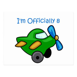 I'm Officially 8, Jet Plane Postcard