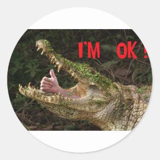 I'm ok ! classic round sticker