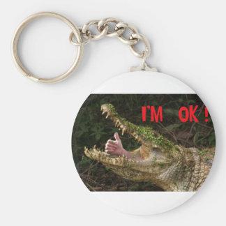 I'm ok ! basic round button keychain