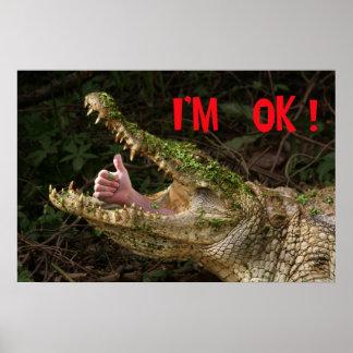 I'm ok ! posters