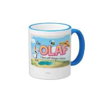 I'm Olaf, I Love All Things Warm Ringer Mug
