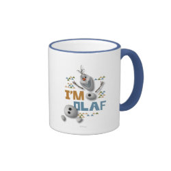 Ringer Mug with Funny: Olaf in Pieces design