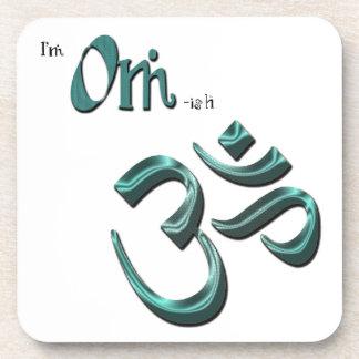 I'm Om-ish Om Symbol Aum Beverage Coaster