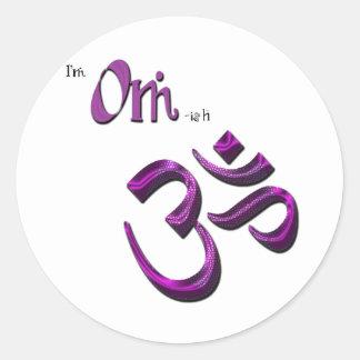 I'm Om-ish Om Symbol Aum Classic Round Sticker
