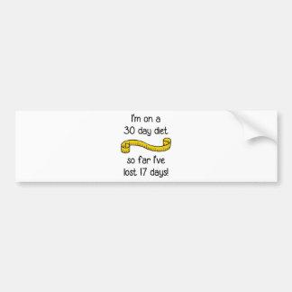 I'm On a 30 Day Diet Car Bumper Sticker
