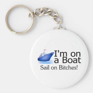 Im On A Boat Basic Round Button Keychain
