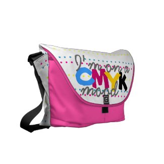 I'm on a CMYK mood Messenger Bag rickshawmessengerbag
