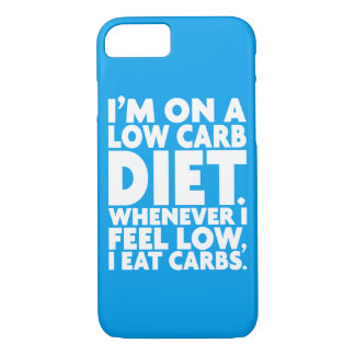 I'm On A Low Carb Diet - Funny Novelty iPhone 8/7 Case