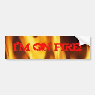I'm On Fire! Bumper Sticker