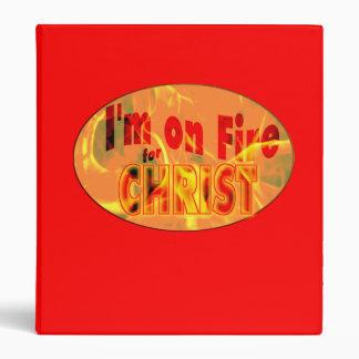 I'm on fire for CHRIST Vinyl Binder