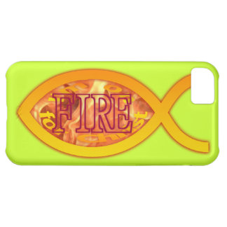 I'm on FIRE for Christ - Christian Fish Symbol Case For iPhone 5C