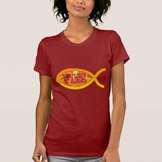 I'm on FIRE for Christ - Christian Fish Symbol T-Shirt