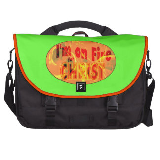 I'm on fire for CHRIST Bags For Laptop
