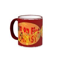 I'm on fire for CHRIST mug