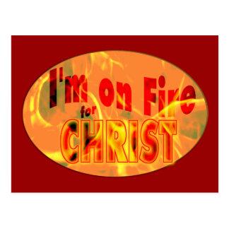 I'm on fire for CHRIST Postcard
