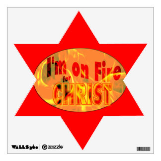 I'm on fire for CHRIST Wall Sticker