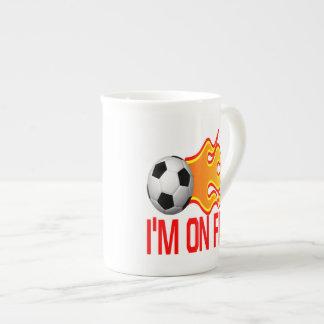 Im On Fire Porcelain Mugs
