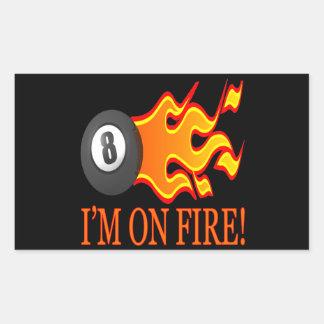 Im On Fire Rectangular Sticker