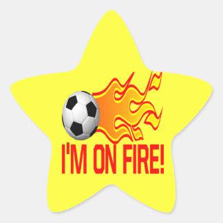 Im On Fire Star Sticker
