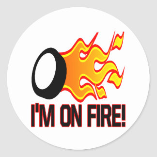 Im On Fire Classic Round Sticker
