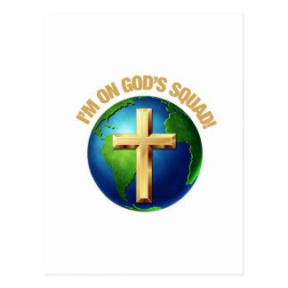 I'm On God's Squad Postcard