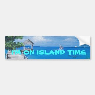I'M ON ISLAND TIME-Bumper Sticker