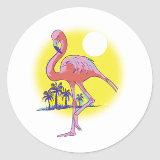 I'm on Island Time! Classic Round Sticker