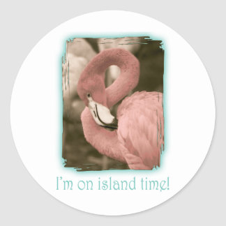 I'm on Island Time Classic Round Sticker