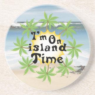 Im On island Time Beverage Coasters
