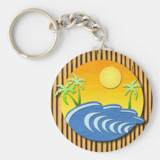 I'm On Island Time Basic Round Button Keychain