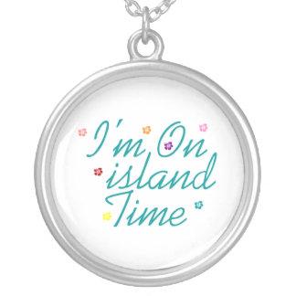 Im On island Time Round Pendant Necklace