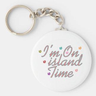 Im on island Tme Basic Round Button Keychain