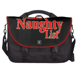 I'm on Santa's Naughty List Laptop Computer Bag