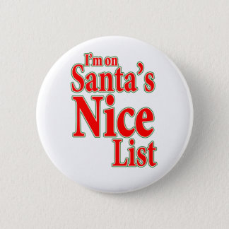 I'm on Santa's Nice List Button