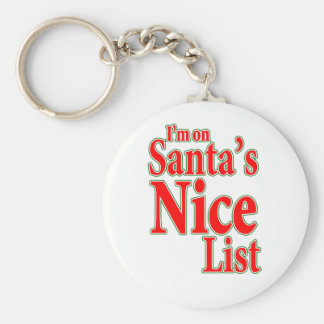 I'm on Santa's Nice List Keychain