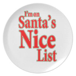 I'm on Santa's Nice List Melamine Plate