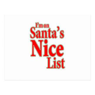 I'm on Santa's Nice List Postcard