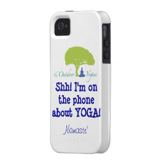 """""""I'm On the phone about YOGA"""" Case-Mate iPhone 4 Case"""