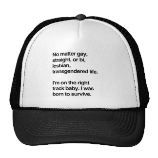 I'm on the right track baby trucker hat