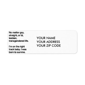 I'm on the right track baby return address label