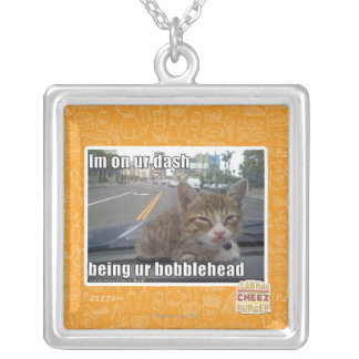 Im on ur dash silver plated necklace
