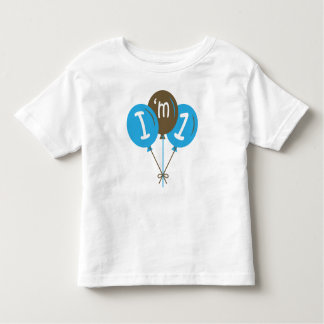 I'm One 1st Birthday Blue Balloon Gift Toddler T-shirt