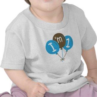 I'm One 1st Birthday Blue Balloon Gift shirt