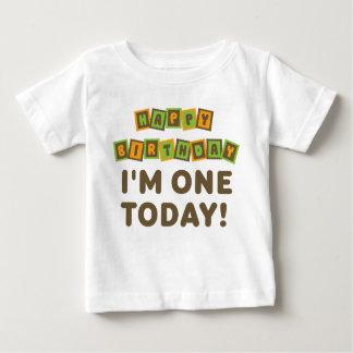 I'm One 1st Birthday Orange and Brown Baby T-Shirt