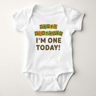 I'm One 1st Birthday Orange and Brown Tee Shirt