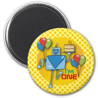I'm ONE 1st Birthday Party Yellow Fridge Magnets