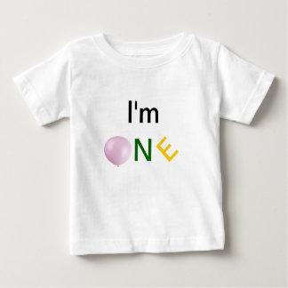 I'm One , Baby's First Bithday Tshirt