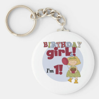I'm One Birthday Girl Tshirts and Gifts Keychain