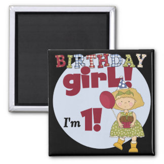 I'm One Birthday Girl Tshirts and Gifts Refrigerator Magnet